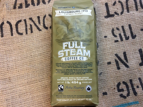 Full Steam Louisbourg 1713 - French Roast (WHOLE BEAN)