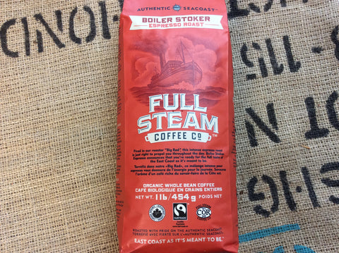 Full Steam Boiler Stoker - Espresso Roast (WHOLE BEAN))