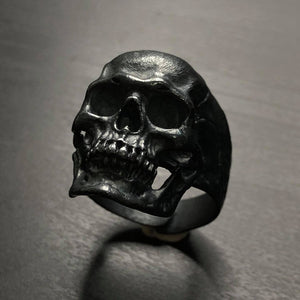 THE BLACK EDITION - 2020 STERLING SILVER SKULL RING / High Quality Handcraft -H2126