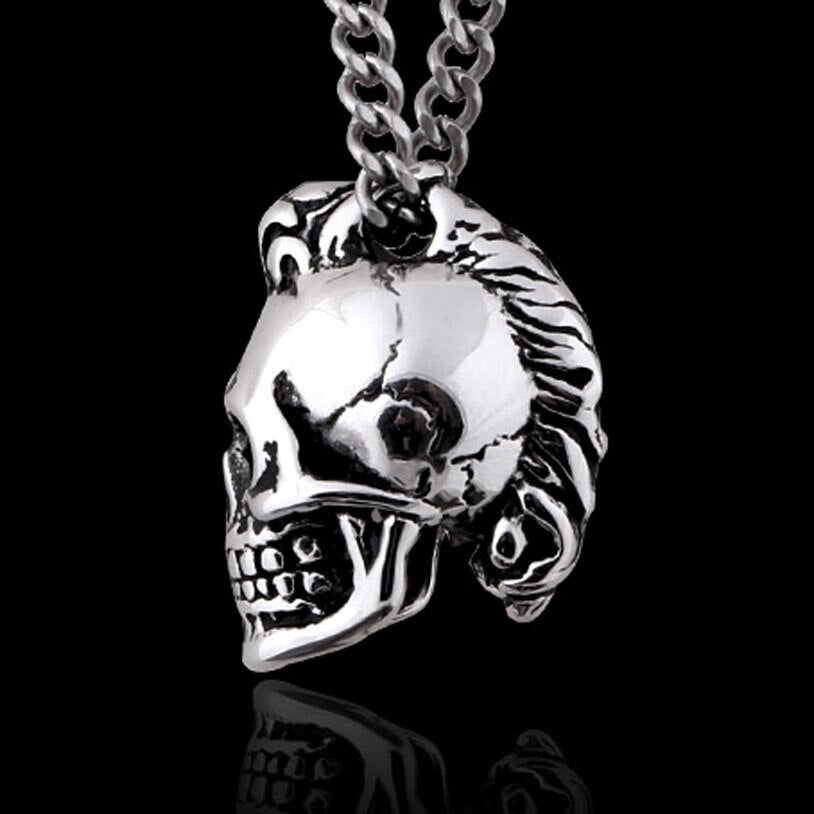 Skull Stainless Steel Pendant Necklace, with 23 inch chain