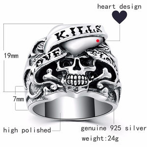 Gothic Skull Ring - Smelloncollie