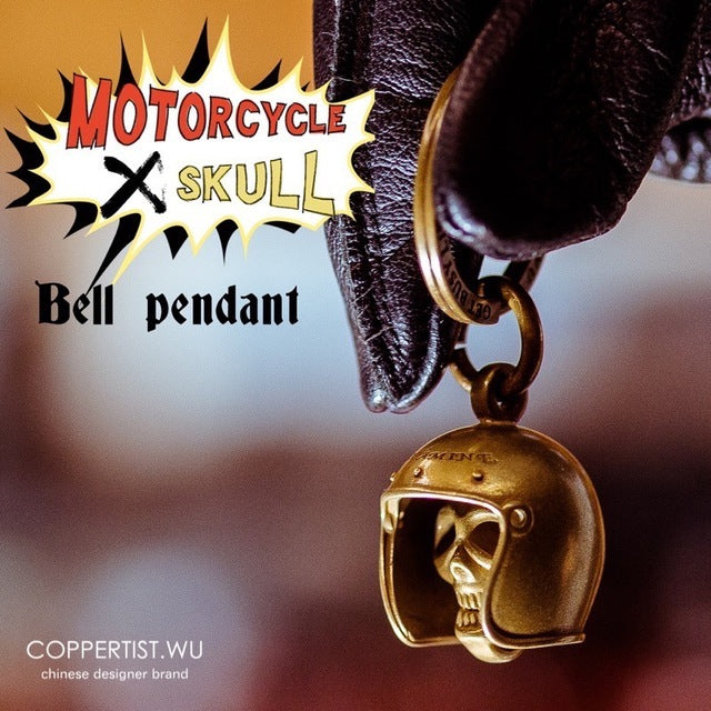 Handmade keyring retro Brass motorcycle style - Smelloncollie