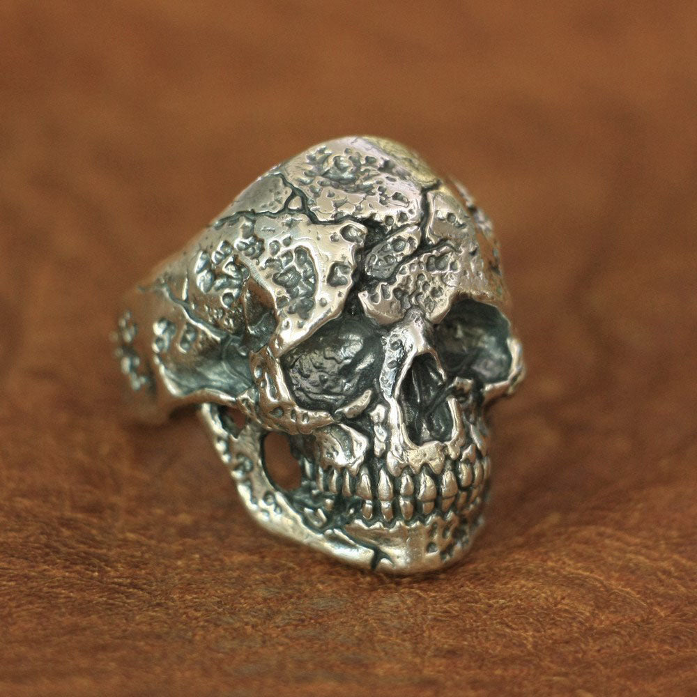New Arrival Handmade 925 Sterling Silver Skull for men - High Qulity Handcraft - Vintage Biker Rock Punk Style SH774 - Smelloncollie