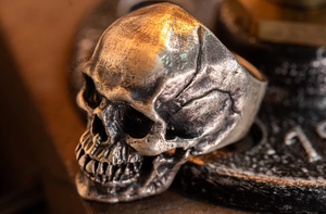 BEST SELLER! Silver Skull Ring- High Quality Handcraft -H702