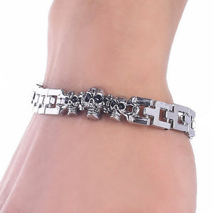 Best Seller Pirate Skull Bracelet Stainless Steel - Smelloncollie