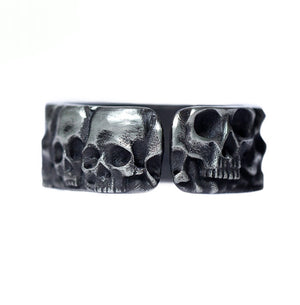 Handmade 925 Sterling Silver Skull Ring for men - High Qulity Handcraft - Vintage Biker Rock Punk Style SH743 - Smelloncollie