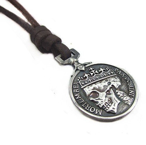 Hot Sale fashion leather necklace high quality women gothic retro skull