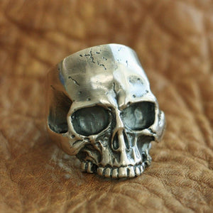 Handmade 925 Sterling Silver Skull for men - High Qulity Handcraft - Vintage Biker Rock Punk Style SH777 - Smelloncollie