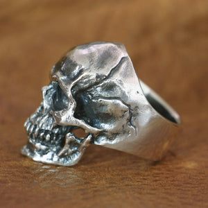 BEST SELLER! Handmade 925 Sterling Silver Skull for men - High Qulity Handcraft - Vintage Biker Rock Punk Style H702 - Smelloncollie