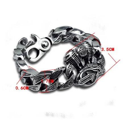Motor Engine Big Thick Cross S925 Bracelet