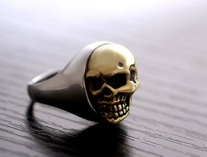 Handmade 925 Sterling Silver Skull for men - High Qulity Handcraft - Vintage Biker Rock Punk Style SH739 - Smelloncollie