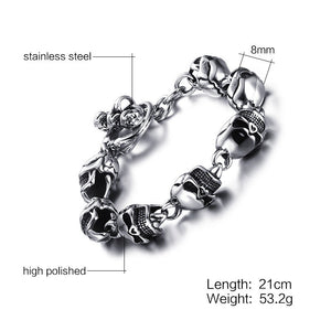 Best Seller Men Skull Bracelets Stainless Steel - Smelloncollie