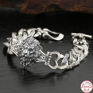Lion Bracelet 925 Sterling Silver - Smelloncollie