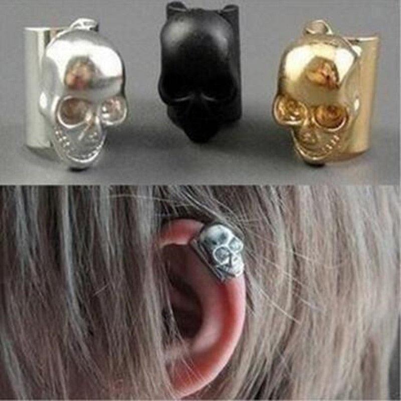 New style punk skull earrings