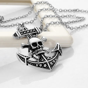 Hot Anime necklaces pendants women vintage One Piece anchor skull pendant necklace chains choker jewelry necklace for men