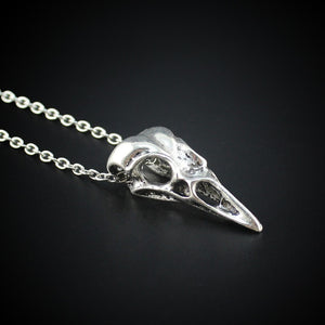 Drop Shipping 2017 New Men Women's Jewelry Vintage Silver Bronze Tone Bird Skull Pendant Short Necklace ED4489