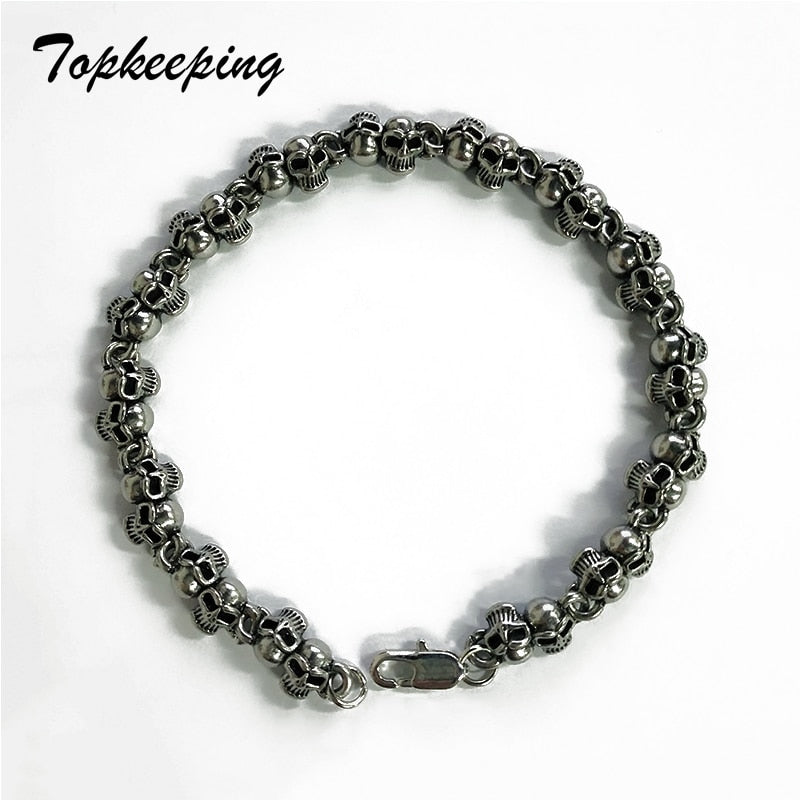 Best Seller Twin Skull Bracelets /Alloy - Smelloncollie