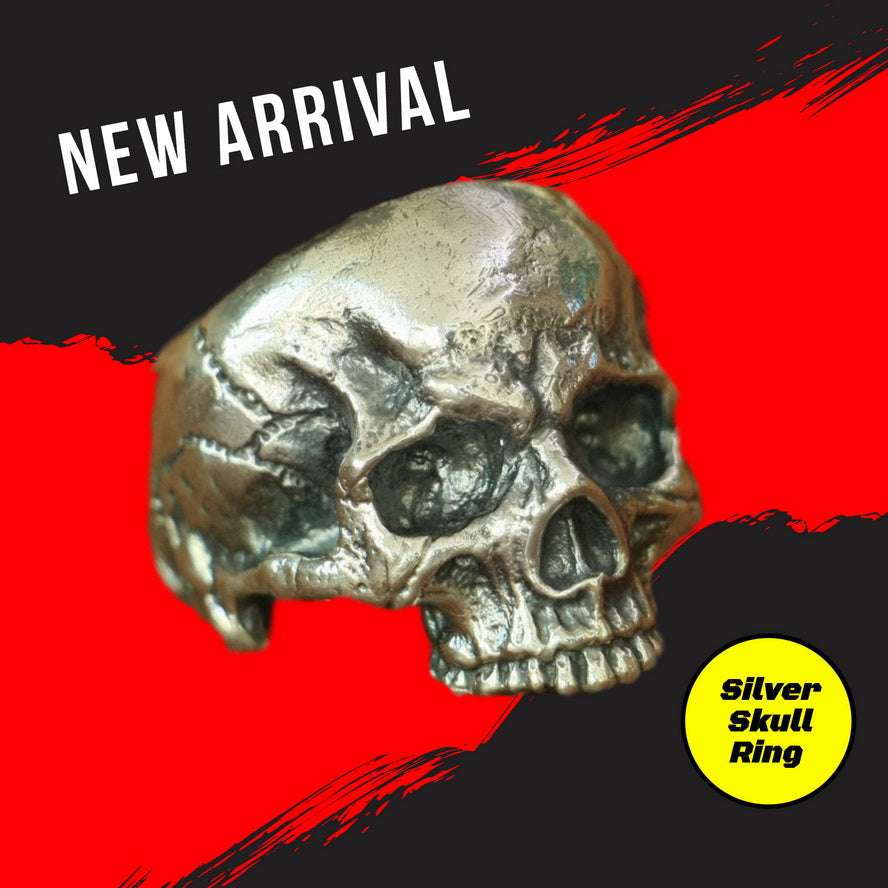 Handmade 925 Sterling Silver Skull for men - High Qulity Handcraft - Vintage Biker Rock Punk Style SH701 - Smelloncollie