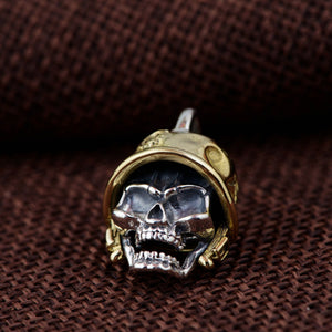 925 Sterling Silver-Couple Vintage Skull Pendants for Men Without Chain - Smelloncollie