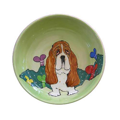Basset Hound 4 Dog Bowl
