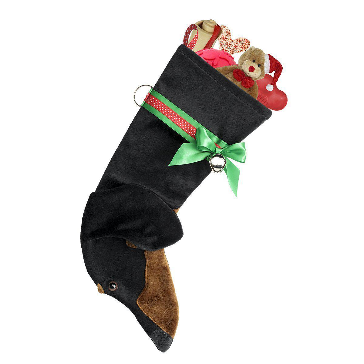 Black/Tan Dachshund Christmas Stocking