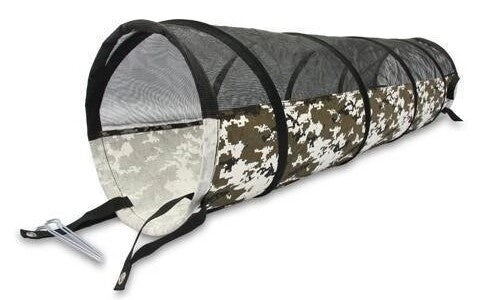 Camo Black And White Play Tunnel Dog Toy
