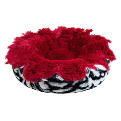 red beautiful bed for dogs