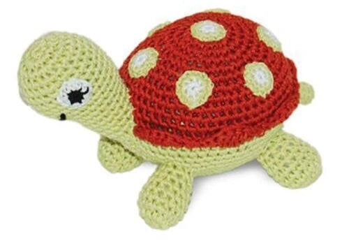 Pawer Squeaky Turtle Dog Toy