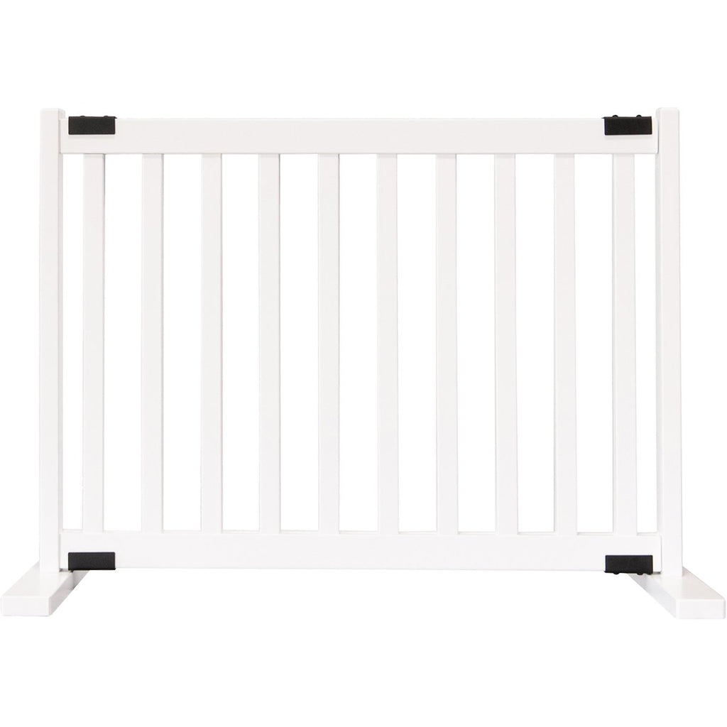 Kensington Series Free Standing Solid Wood Dog Gate White