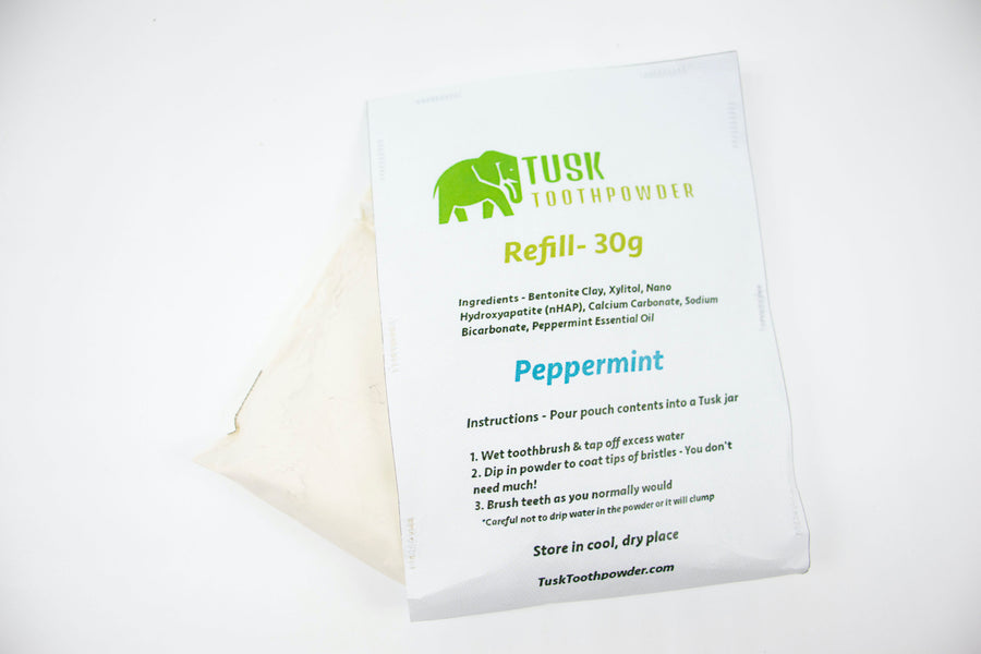 Clay Toothpowder Refill - Peppermint