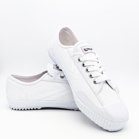Feiyue all white coated canvas trainer