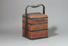 Antique Chinese Woven Bamboo Picnic Basket