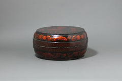 Antique Chinese Lacquer Cake Box