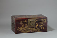Antique Chinese Lacquer Leather Box