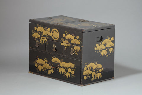 Antique Japanese Lacquer Sewing Box