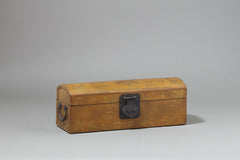 Vintage Leather Pillow Box