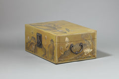 Leather Box with Lotus Painting