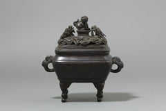 Large Vintage Japanese Bronze Censer