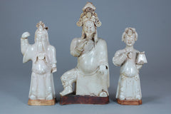 Vintage Porcelain Figures, Blanc de Chine, Set of 3