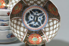 "Ko-Imari Namasu Bowls ""Lattice Design,"" Set of 6"