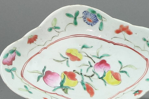 Antique Chinese Porcelain Footed Food Dish