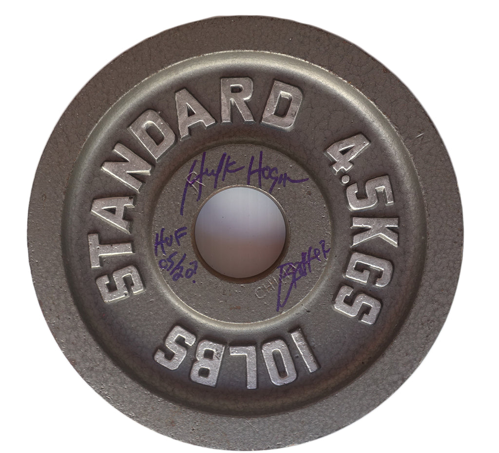 10lb Signed Weight lifting Plates