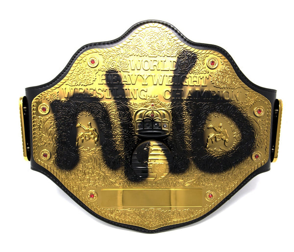 Hollywood Hogan Signed WCW NWO Championship Title Belt Replica Front