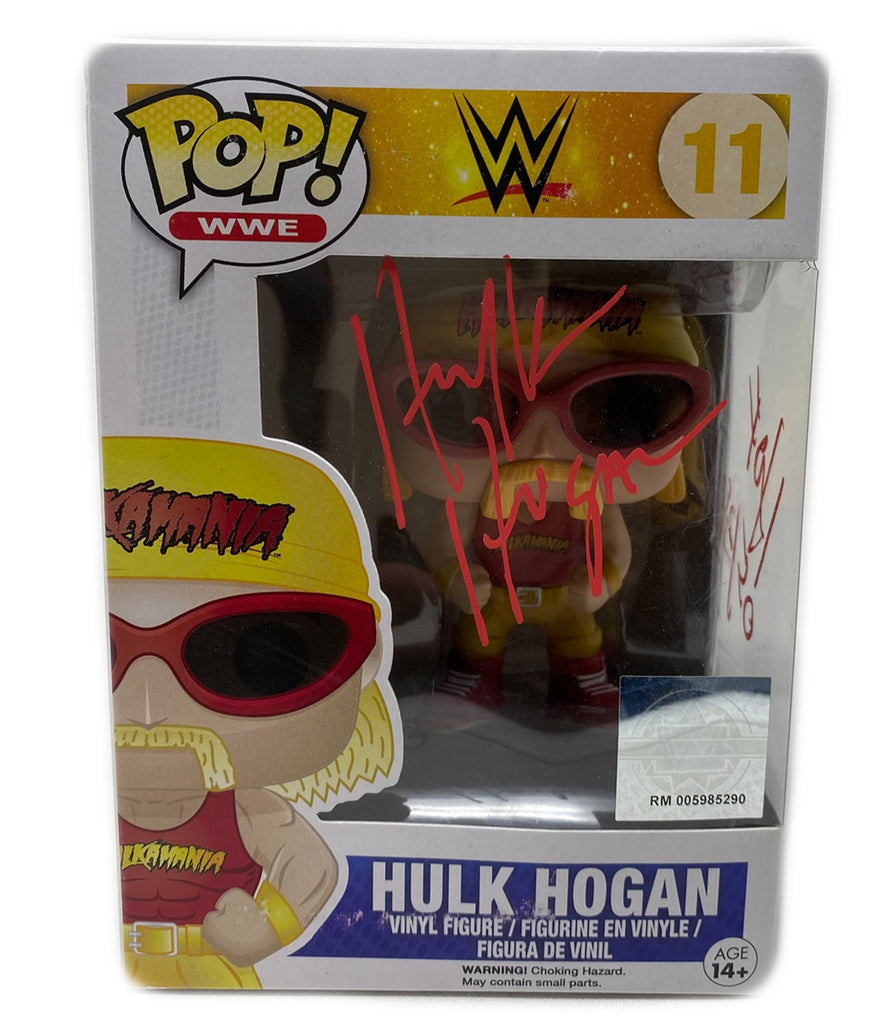 Hulk Hogan Signed Funko Pop! WWE Action Figure Hulkamania! RED