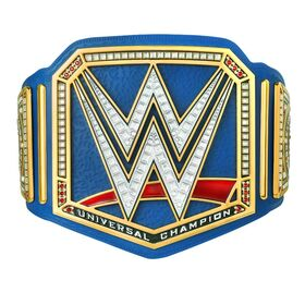 Universal Championship Blue Replica Title Signed