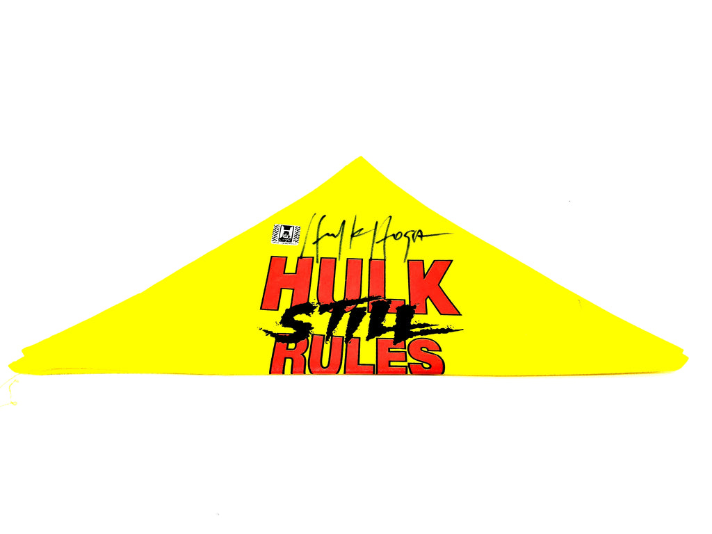 Hulk Hogan Signed Hulk Still Rules Bandana