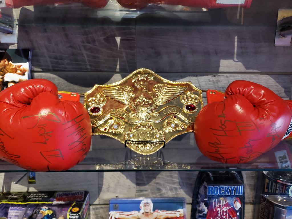 Hulk Hogan Signed Tuf-Wear Boxing Glove