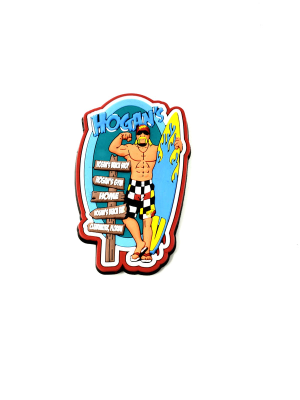 Beach Bum Hulk Hogan Surf 3D Magnet