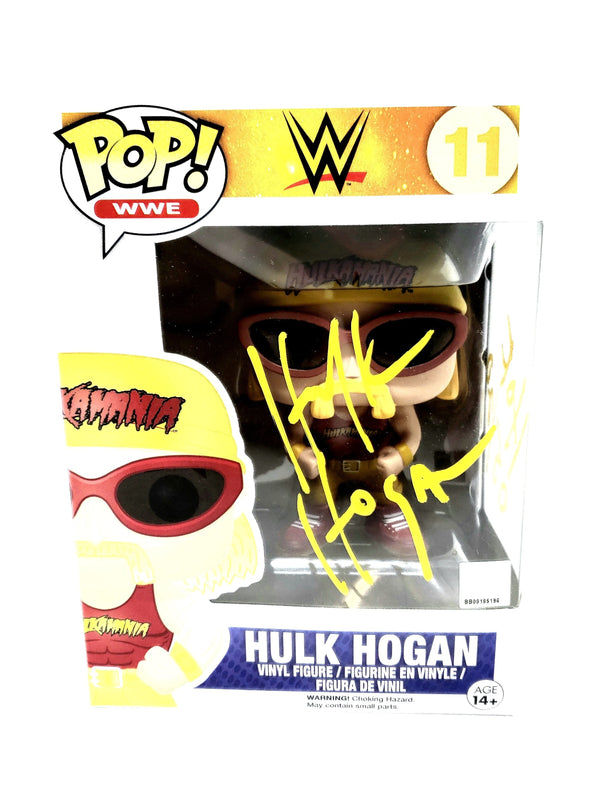 Hulk Hogan Signed Funko Pop! WWE Action Figure Hulkamania! YELLOW