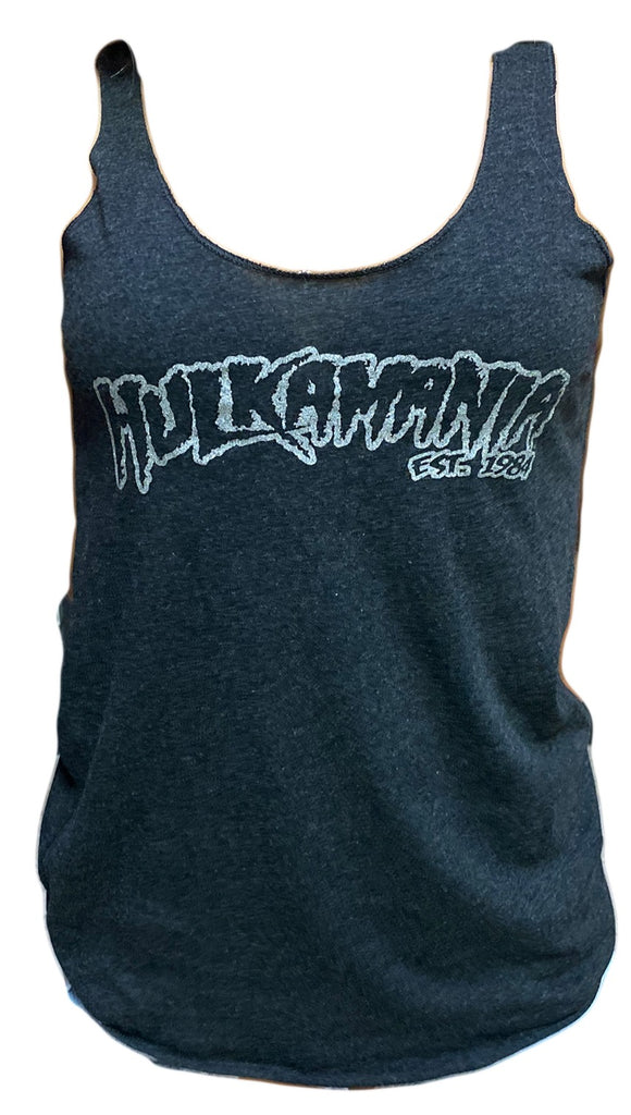 Grey Vintage Hulkamania Womens Tank